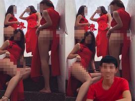 Dân mạng sôi sục trước hình ảnh 4 gái xinh mặc mát mẻ, lộ nguyên vòng 3 bên một chàng trai