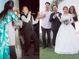 Rapper Tiến Đạt công khai loạt ảnh 'đám cưới nhà quê' với bà xã Thụy Vy
