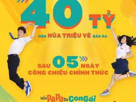 'Bom tấn' của Thái Hòa và Kaity Nguyễn đạt doanh thu 40 tỷ đồng sau 5 ngày công chiếu