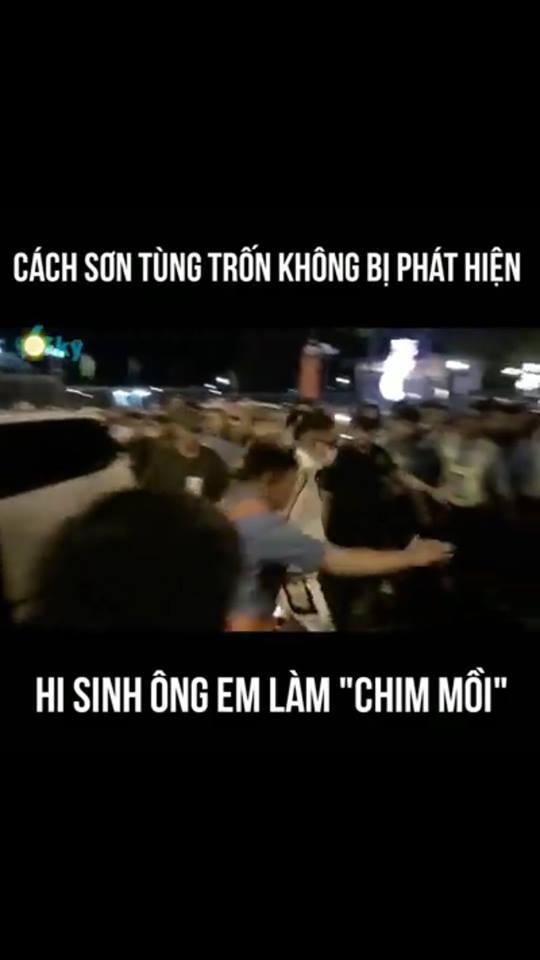Trốn fans phải đỉnh cao như Sơn Tùng: Hy sinh em trai ra trước, một mình đường đường chính chính ra sau-2