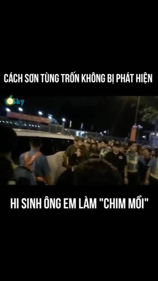 Trốn fans phải đỉnh cao như Sơn Tùng: Hy sinh em trai ra trước, một mình đường đường chính chính ra sau-1