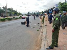 Gia Lai: Ô tô khách tông 2 xe máy, 4 người thương vong