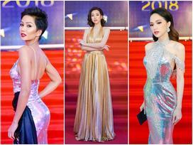 Cùng diện đầm cắt xẻ sexy, H'Hen Niê - Mỹ Linh - Hương Giang bất phân thắng bại trên thảm đỏ