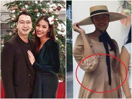 Sau úp mở vợ mang bầu của ông xã đại gia, Lan Khuê tiếp tục để lộ vòng 2 lớn trông thấy