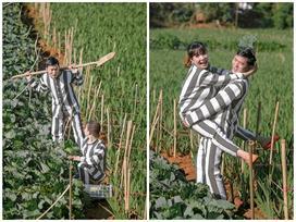 Dân mạng tranh cãi gay gắt về cặp đôi Sài Gòn mặc áo tù chụp ảnh cưới, đặt tên album là 'Tù chung thân'
