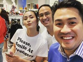 Vợ chồng Tăng Thanh Hà tinh nghịch trước ống kính của em trai Phillip Nguyễn