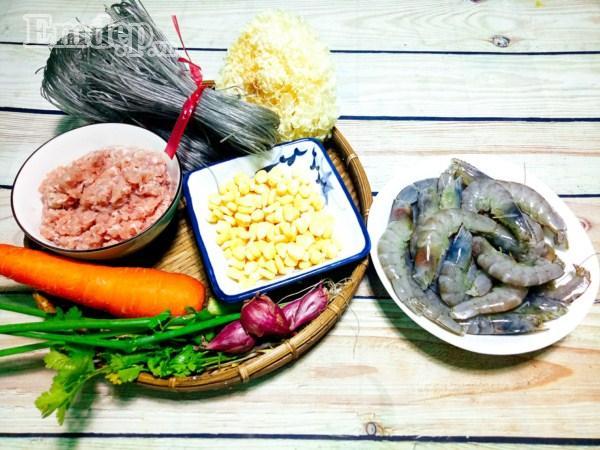 Bữa tối đổi gió với súp tôm thịt nấu miến tuyệt ngon-1