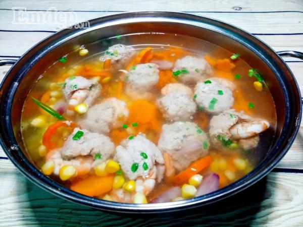 Bữa tối đổi gió với súp tôm thịt nấu miến tuyệt ngon-6