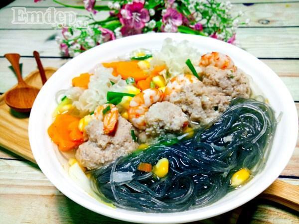 Bữa tối đổi gió với súp tôm thịt nấu miến tuyệt ngon-10