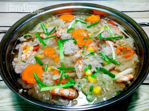 Bữa tối đổi gió với súp tôm thịt nấu miến tuyệt ngon-7