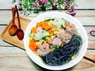 Bữa tối 'đổi gió' với súp tôm thịt nấu miến tuyệt ngon