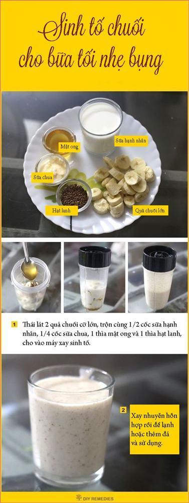 Sinh tố chuối thay bữa tối giúp giảm cân mà vẫn no bụng-1