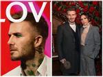 David Beckham gây xôn xao với ảnh trang điểm phấn mắt màu xanh