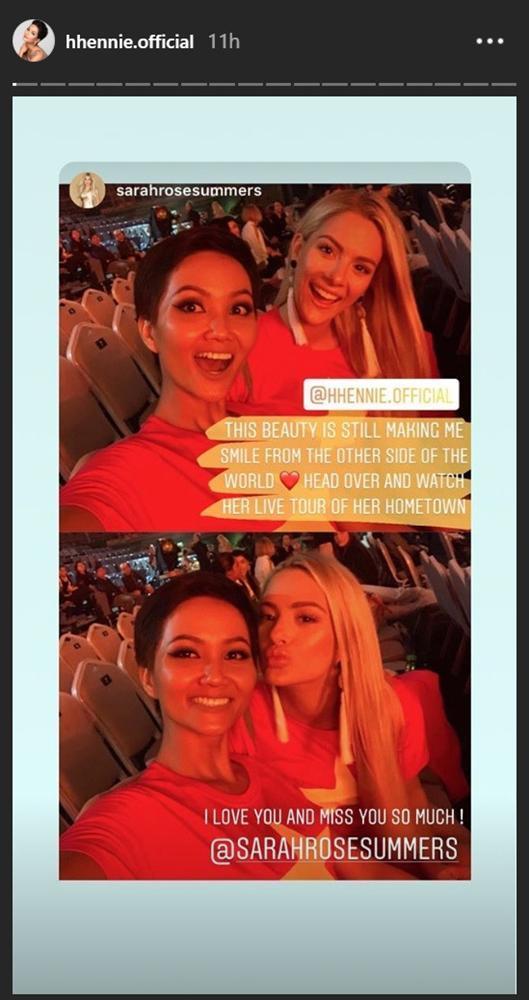 Hoa hậu Mỹ đăng ảnh tình cảm với HHen Niê sau vạ miệng chê tiếng Anh-1