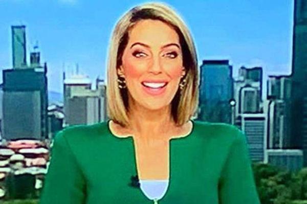 MC truyền hình mặc áo gây liên tưởng đến của quý-1