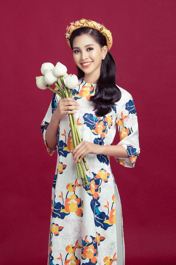Hoa hậu Tiểu Vy gợi ý cách chọn áo dài Tết-4