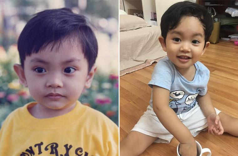 Quý tử 3 tuổi nhà Khánh Thi biểu cảm cưng ơi là cưng khi được mẹ tút tát ngoại hình-8