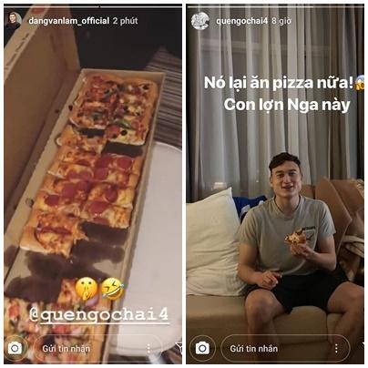 Văn Đức, Văn Hậu tậu hẳn siêu xe giống nhau, Lâm tây bị mắng yêu vì lén lút ăn pizza-3