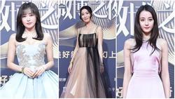 'Hoàng hậu' Tần Lam và 'Kế Hoàng hậu' Xa Thi Mạn không ngại hở giữa thời tiết âm độ