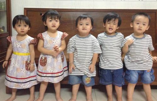 Bất ngờ trước ngoại hình sau 6 năm của 5 đứa trẻ trong ca sinh 5 duy nhất ở Việt Nam-3