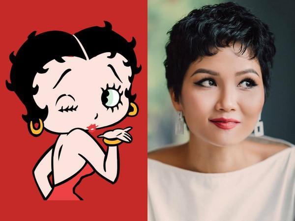 Khoe ảnh tóc xoăn má phính, HHen Niê được fan toàn thế giới ví như cô nàng nóng bỏng Betty Boop-1