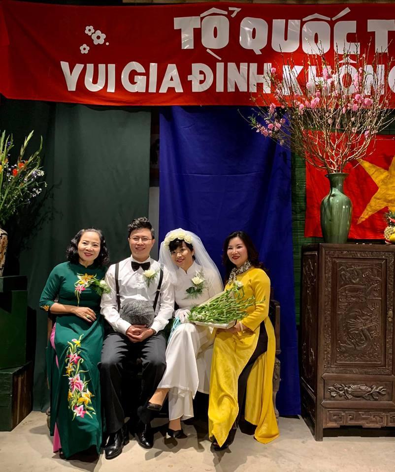 Thích thú ngắm loạt ảnh cưới phong cách thập niên 80 của cặp MC Thảo Vân - Lê Anh-12