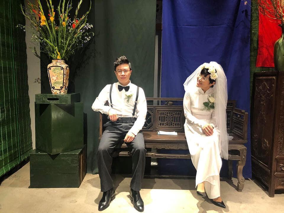 Thích thú ngắm loạt ảnh cưới phong cách thập niên 80 của cặp MC Thảo Vân - Lê Anh-8