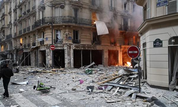 20 người thương vong trong vụ nổ do rò rỉ khí gas ở Paris-1