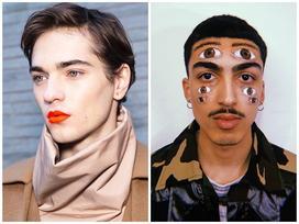 Xu hướng trang điểm 'không giống ai' tại Tuần lễ thời trang nam 2019