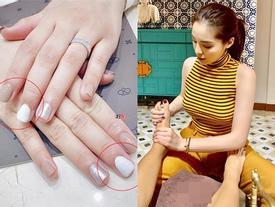 Tự phục vụ khách tại tiệm nail, Hoa hậu Kỳ Duyên bị nhắc nhở 'đeo bao tay tránh lây nhiễm bệnh xã hội'