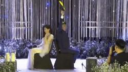 Vân Navy và ông xã doanh nhân cùng khách mời chơi game cực lầy trong đám cưới