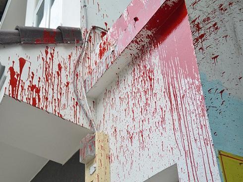 2 thanh niên tạt sơn khủng bố con nợ ở Vũng Tàu-2