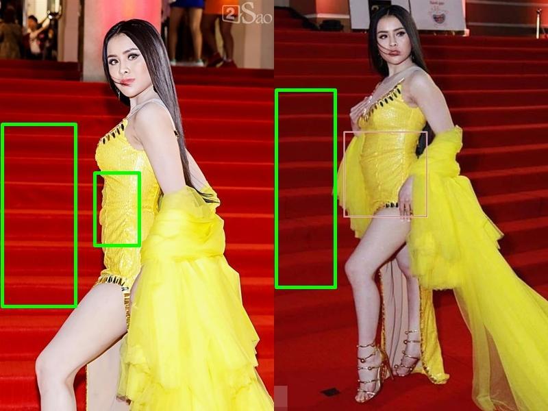 Thư Dung bị phát tán ảnh vòng 2 to như mang bầu, khác xa thân hình thon gọn khi càn quét thảm đỏ Mai Vàng-8