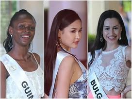 Nhan sắc Lê Âu Ngân Anh vẫn còn đỡ, ngắm dàn thí sinh Miss Intercontinental 2018 mặc đồ dạo biển ai cũng thon thót giật mình
