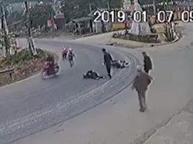 Khúc cua tử thần kỳ lạ khiến hàng loạt xe máy gặp nạn ở Yên Bái