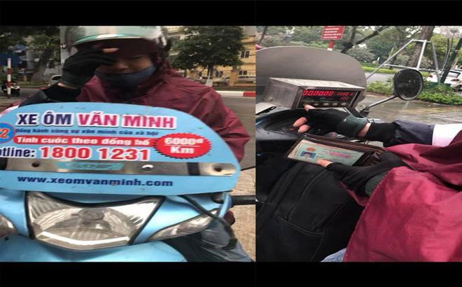 Đi xe ôm dán logo Văn Minh, cô gái bị chém 500 ngàn đồng cho 10km-1