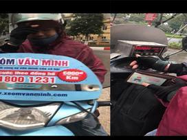 Đi xe ôm dán logo Văn Minh, cô gái bị 'chém' 500 ngàn đồng cho 10km