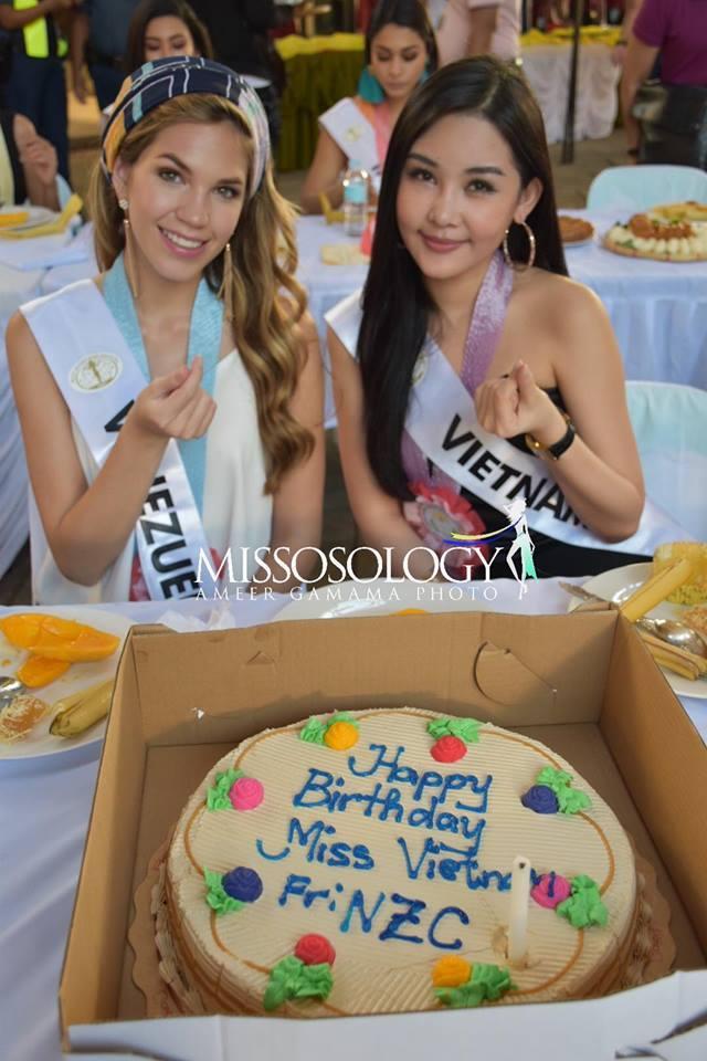Sau nhiều ngày kém xinh, cuối cùng Lê Âu Ngân Anh cũng đã có một bức hình khá khẩm tại Miss Intercontinental 2018-2