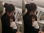 Single mom khổ lắm ai ơi: Hình ảnh Phạm Quỳnh Anh co ro ôm con gái trên máy bay gây xúc động mạnh