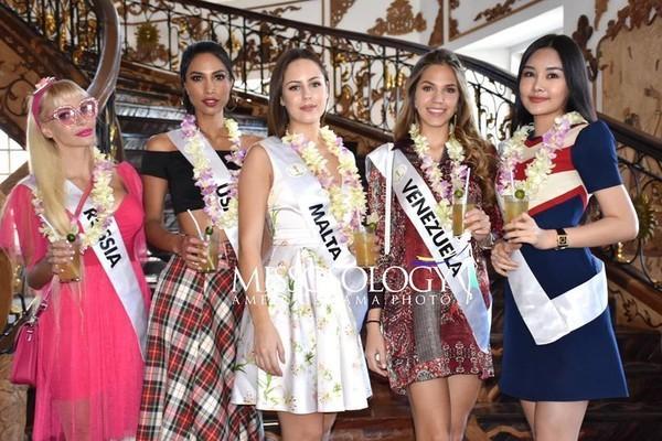 Sau nhiều ngày kém xinh, cuối cùng Lê Âu Ngân Anh cũng đã có một bức hình khá khẩm tại Miss Intercontinental 2018-11