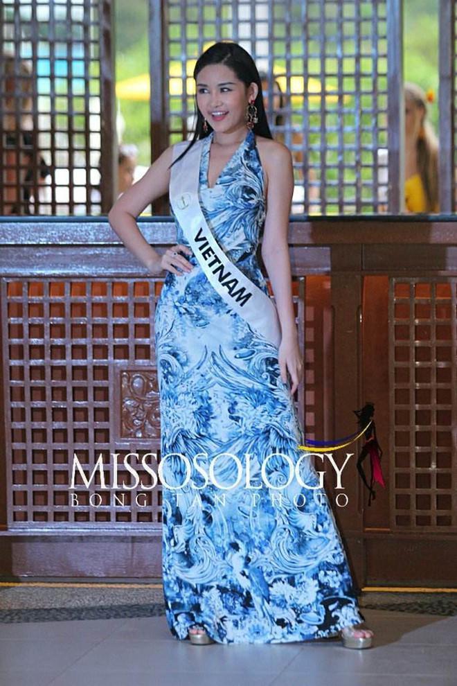 Sau nhiều ngày kém xinh, cuối cùng Lê Âu Ngân Anh cũng đã có một bức hình khá khẩm tại Miss Intercontinental 2018-8