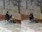 Nhức mắt cảnh 3 đôi học sinh ngồi bế nhau, ôm hôn trong quán net-2