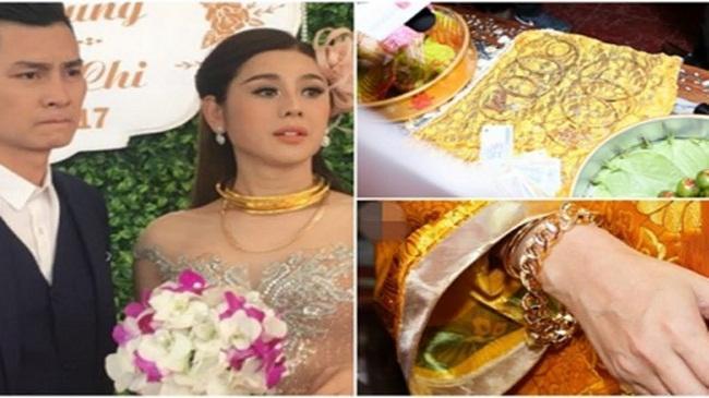 Những mỹ nhân Việt đeo vàng nặng trĩu, cưới đại gia thân thế khủng cỡ nào?-5