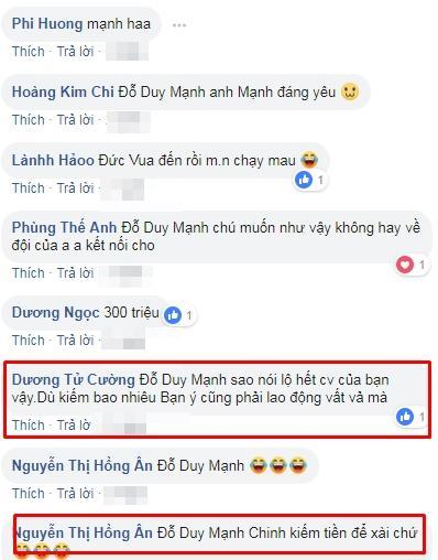 Duy Mạnh buột miệng tiết lộ thu nhập khủng Đức Chinh kiếm được sau mỗi status trên Facebook-4