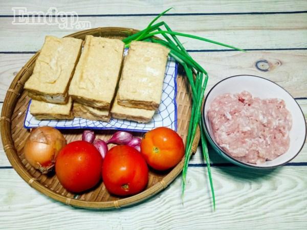 Đậu nhồi thịt sốt cà chua nhanh gọn chào tuần mới-1
