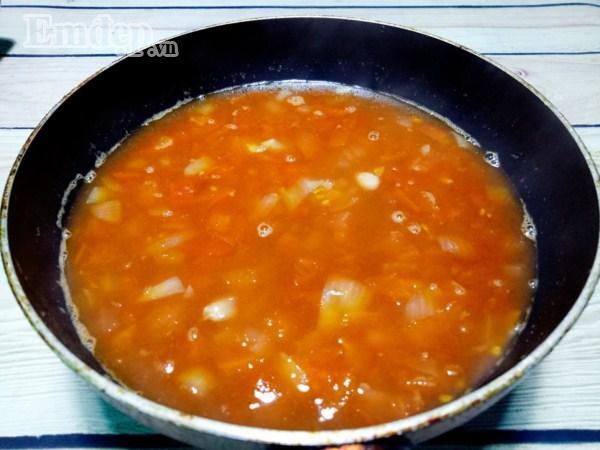 Đậu nhồi thịt sốt cà chua nhanh gọn chào tuần mới-6