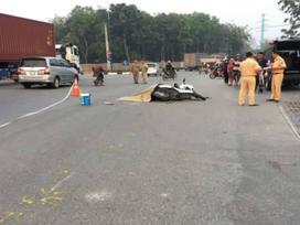 Truy đuổi xe container cán chết người phụ nữ rồi bỏ chạy