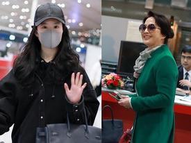 Xuất hiện cùng con gái tại sân bay, mẹ Lưu Diệc Phi bất ngờ chiếm trọn spotlight vì nhan sắc quá đỉnh