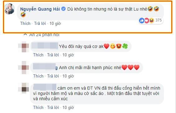 Vào Facebook bạn gái bình luận cực tình cảm nhưng Quang Hải tiếp tục bị Nhật Lê bơ đẹp-2