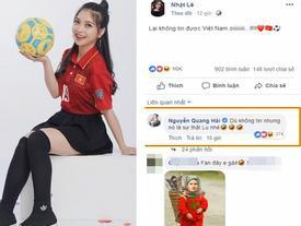 Vào Facebook bạn gái bình luận cực tình cảm nhưng Quang Hải tiếp tục bị Nhật Lê 'bơ đẹp'